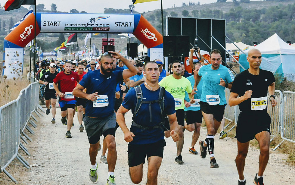 Race in memory of fallen Druze soldiers (Photo: Efi Shrir)