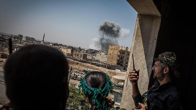 Hezbollah fighters in Raqqa