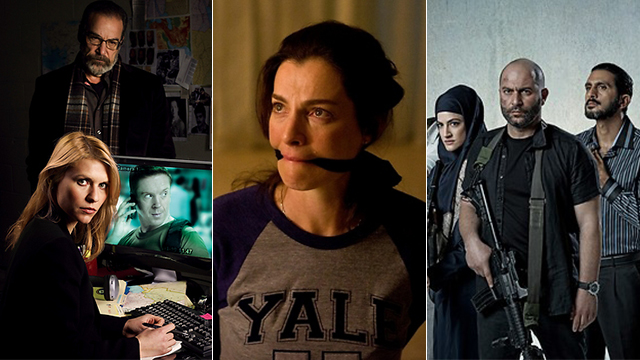 L to R: US adaptation of Homeland, and Israeli originals Hostages, and Fauda