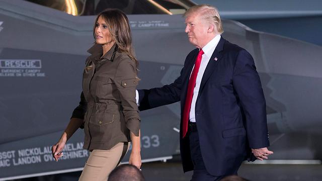 מה הם עושים ביחד? דונלד ומלניה טראמפ (צילום: EPA) (צילום: EPA)