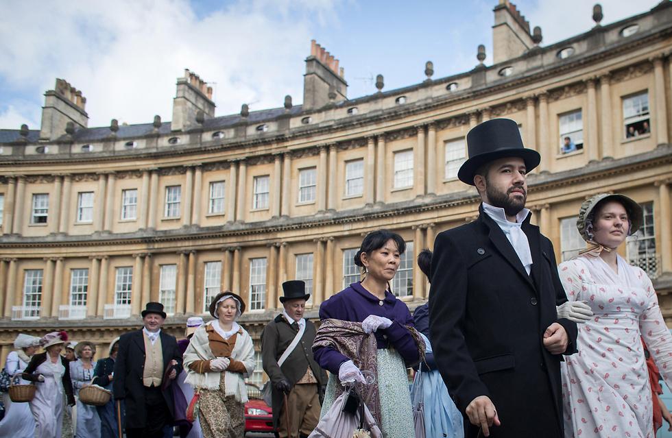 מציינים 200 שנים למותה של ג'יין אוסטן בבאת', אנגליה (צילום: gettyimages)