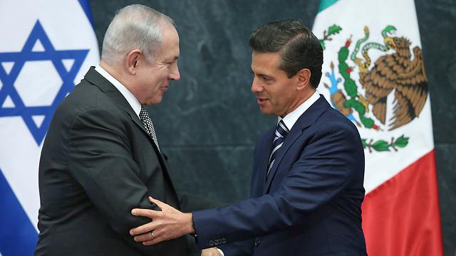 Netanyahu meets with Mexican President Enrique Peña Nieto (Photo: Reuters)