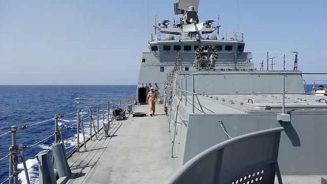 פריגטה רוסית באזור חופי סוריה (צילום: AFP) (צילום: AFP)