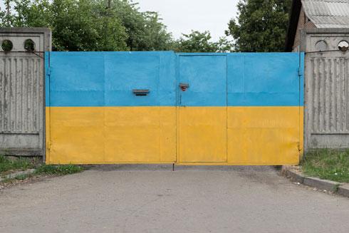 אין פריוויליגיה של תכנון מוקדם. כאן בצבעיו של דגל אוקראינה (צילום: גדעון לוין)