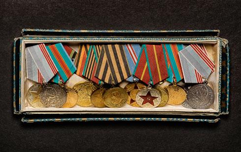 אוסף המדליות המשפחתי. ''היה טבעי שאתגייס לקרבי'' (צילום: סרגי ליטווינוב)