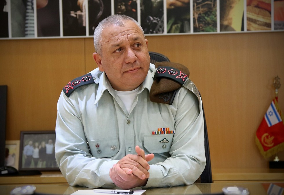 Eisenkot in his office (Photo: Avi Mualem) (Photo: Avi Moalem)