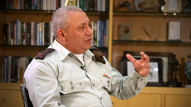 Eisenkot in his office (Photo: Avi Mualem)