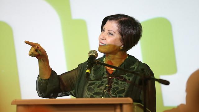 """יו""""ר מרצ זהבה גלאון, אמש (צילום: תומריקו) (צילום: תומריקו)"""