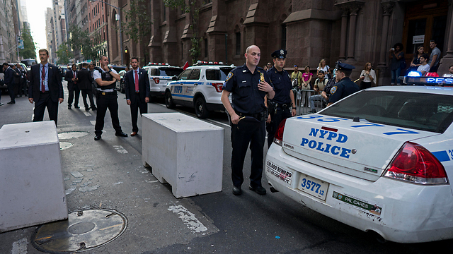 אבטחה כבדה בניו יורק (צילום: AP)