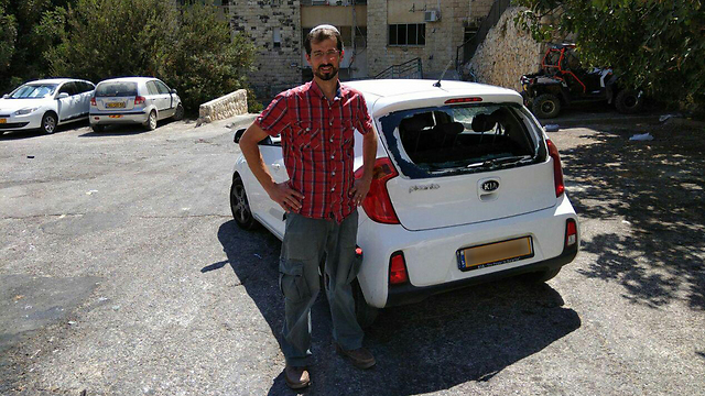 Gabi Shifrin's car was attacked with stones in east Jerusalem