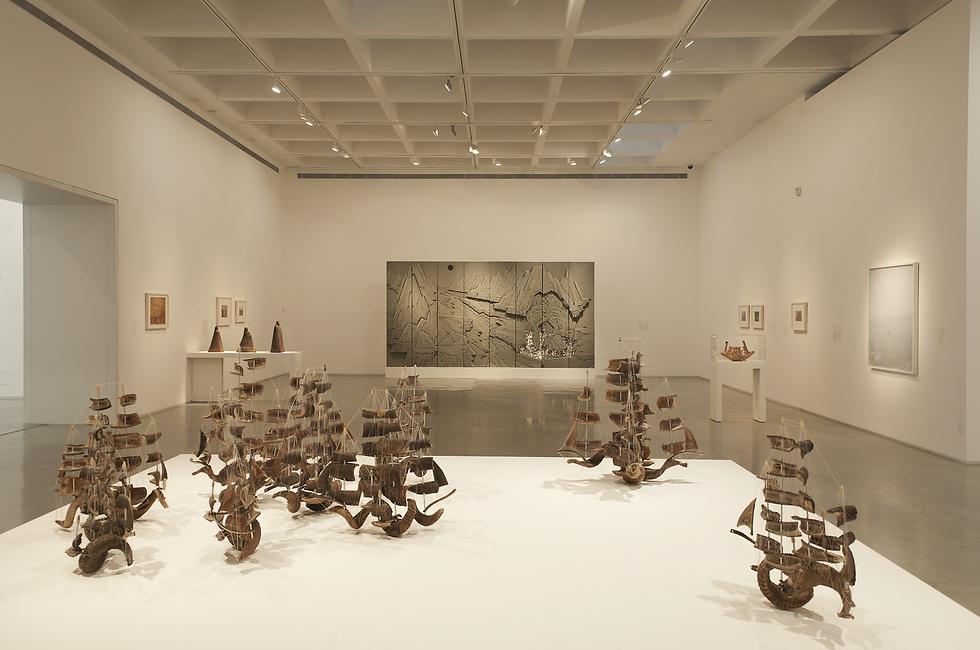 """אורי ניר, """"צי יום כיפור"""". מאוסף מוזיאון ישראל (אורי ניר, """"צי יום כיפור"""", מאוסף מוזיאון ישראל)"""