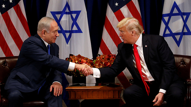 Trump and Netanyahu upon their meeting (Photo: Reuters) (Photo: Reuters)