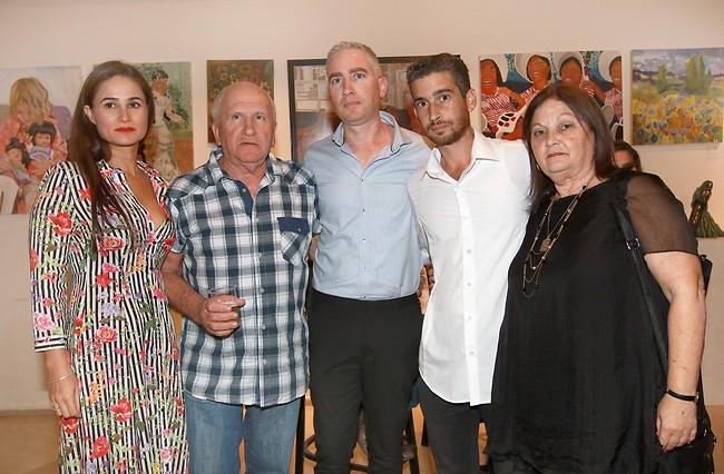 משפחתו התומכת של אמיר פרישר גוטמן (צילום: ענת מוסברג)