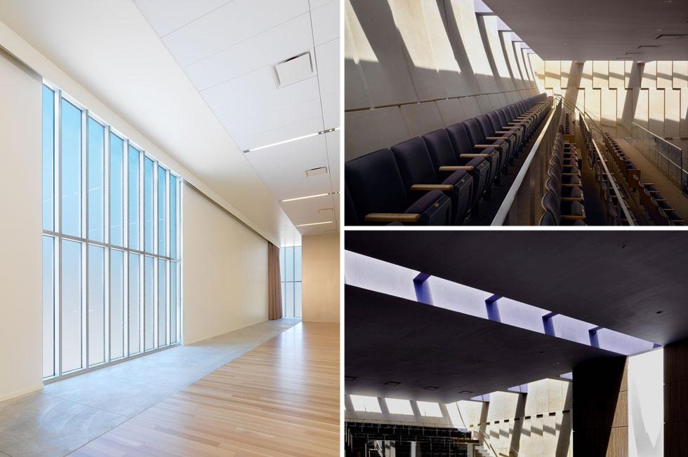 החלונות הם חלק חשוב מאופיו של המקום. באולם התפילה (בתמונות מימין) הם גם מאפשרים קשר עין בין המתפללים לשמיים (צילום: Rien van Rijthoven)