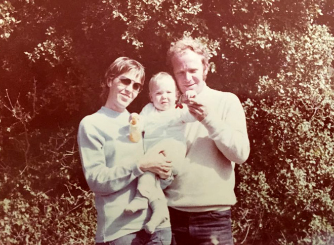 """עם הוריה. """"ג'ינג'ים תוססים ומלאי חיים"""" (צילום: אלבום פרטי)"""