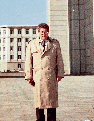 Eytan Bentsur in Pyongyang in 1992. 'Arafat slept in your bed'