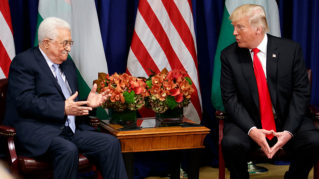 Palestinian President Abbas meets with US President Trump (Photo: AP)