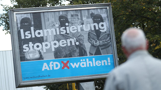 AfD election campaign poster: 'Stop Islamisation. Vote AfD!' (Photo: Getty Images)