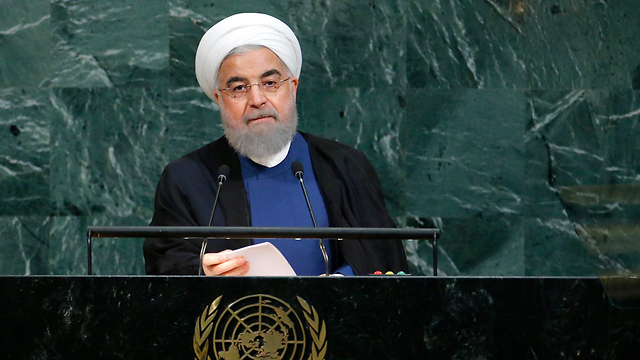 Iranian President Hassan Rouhani in his speech at the UN General Assembly (Photo: Reuters)