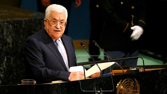 Palestinian President Abbas speaking at the UN General Assembly (Photo: Reuters)