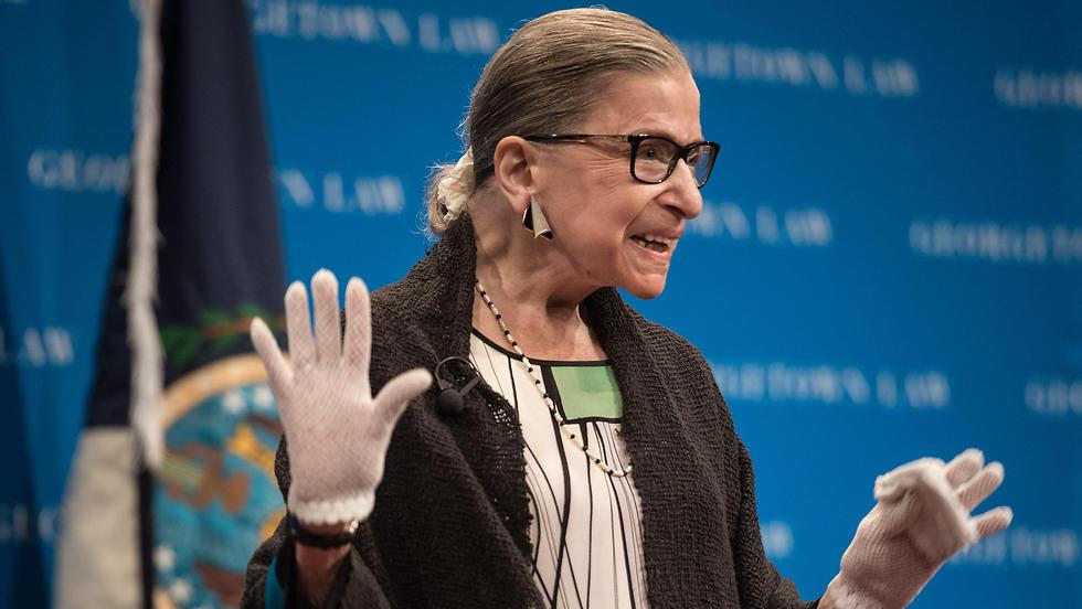Supreme Court Justice Ruth Bader Ginsburg speaks at Georgetown University (Photo: AFP)