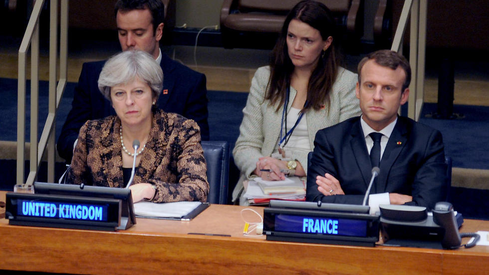 British PM May and French President Macron attend special session on online terrorism (Photo: MCT)