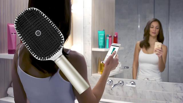 מברשת שיער חכמה (צילום מסך)