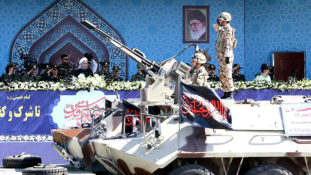 Military parade in Iran in commemoration of the Ian-Iraq war, Sep. 22, 2017 (Photo: Reuters)