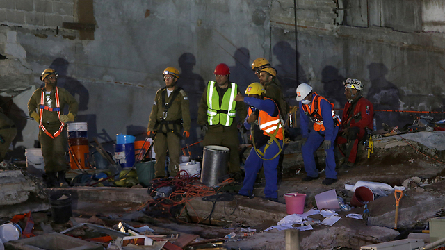 IDF delegation working in Mexico City (Photo: Reuters)