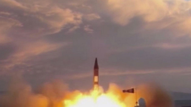File photo: Iran test launching its Khorramshahr missile (Photo: AFP, IRIB TV)