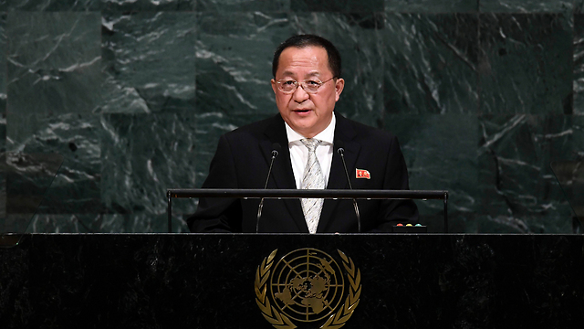 North Korea's Foreign Minister Ri Yong Ho speaking at the UN General Assembly meeting (Photo: AFP)