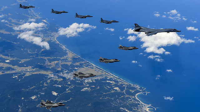 US Air Force B-1B Lancer bombers flying near North Korea (Photo: AFP) (Photo: AFP, US Air Force, Steven Schneider)