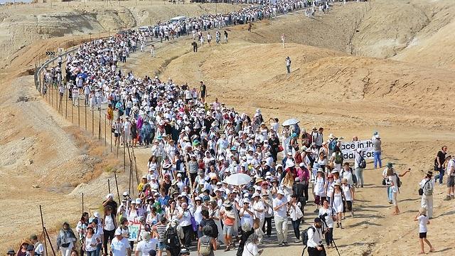 צעדת השלום בשנה שעברה (צילום: נשים עושות שלום )