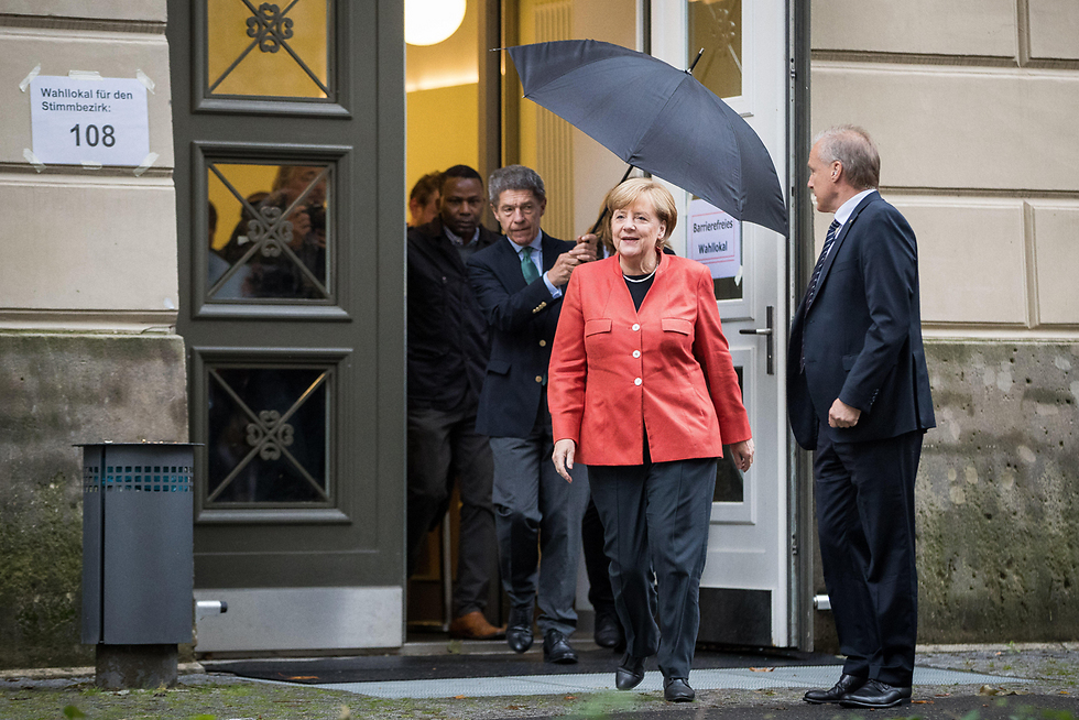 Angela Merkel after the elections (Photo: Getty Images)