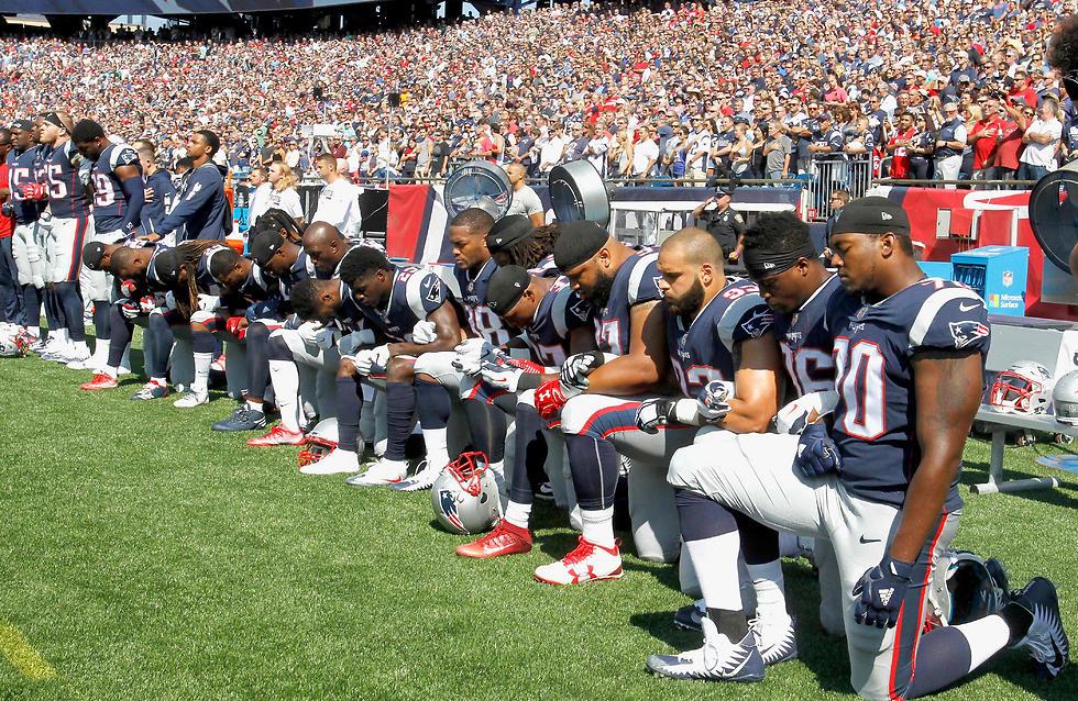שחקני ניו אינגלנד פטריוטס (צילום: AFP)
