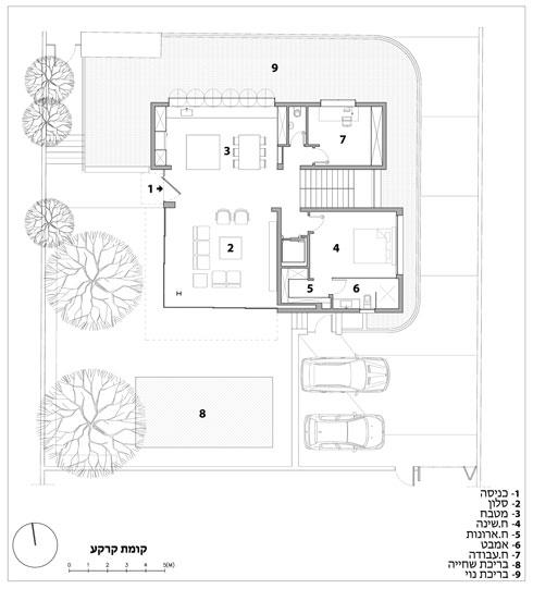 תוכנית קומת הקרקע (תוכנית: תומר בן דור ופדריקה מנקה (archiFETO))