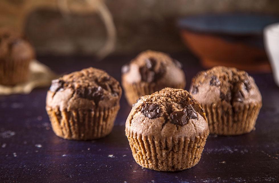 קאפקייקס שוקולד עם נוטלה (צילום: אפיק גבאי)