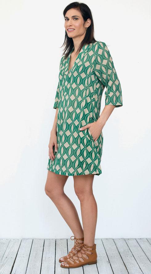 שמלה, 360 שקל, קרן שביט, סנדלים, 105 שקל, forever21 (צילום: עדו לביא, סטיילינג: תמי ארד־ברקאי)