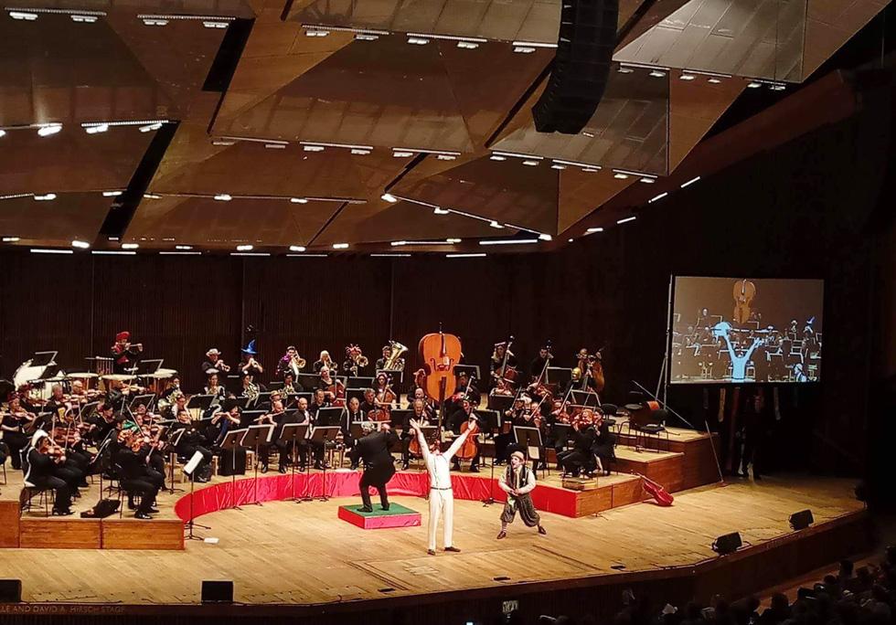 """בקונצרט של הפילהרמונית. """"רעדו לי הברכיים, אבל הצלחתי"""" (צילום: אלבום פרטי)"""
