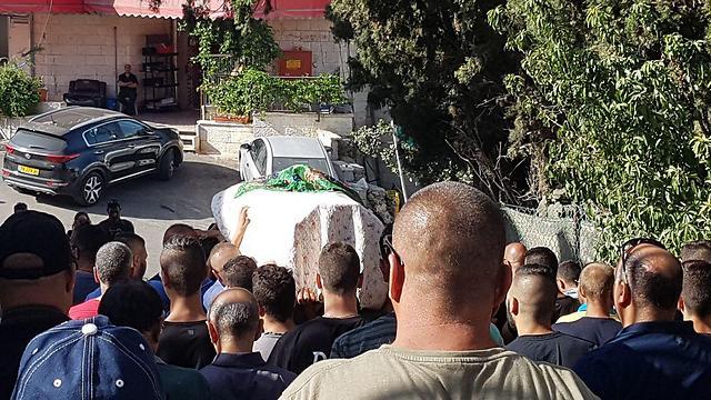 Escorting Youssef on his final journey (Photo: Yishai Porat)