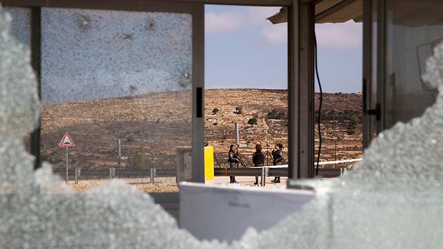 Scene of terror attack in Har Adar in September 2017 (Photo: AP)