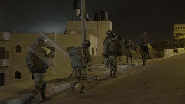 IDF forces mapped out the terrorist's home before demolition (IDF Spokesperson's Unit) (Photo: IDF Spokesperson's Unit)