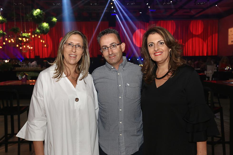 טלי שרון, מייק כהן, שרון אונגר (צילום: פאביאן קולדרוף)