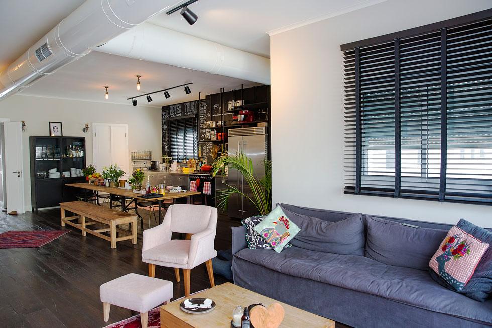 """""""כשהחלטנו לרכוש דירה חיפשנו השראה בפינטרסט ובכל מיני מקומות שאהבנו, כמו הוטל מונטיפיורי בתל אביב"""" (צילום: ענבל מרמרי)"""