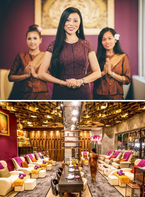 """""""בעסקים שלי אני אוהבת סגנון מלכותי, כמו ארמון תאילנדי, אבל את הבית שלי אני מעדיפה מינימליסטי"""". ספא """"שבע"""" (צילום: אסף קליגר)"""