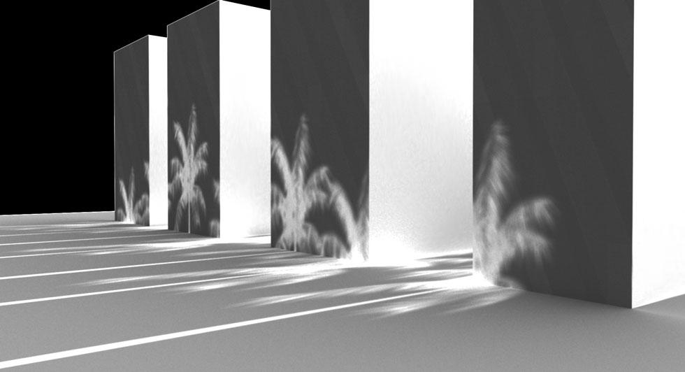איפה הצל? מפגש של שמש, מבנים וצל  (יצירה: עינת ליבוביץ, דניאל קולנטרוב, איפה הצל?, C print ,2017)