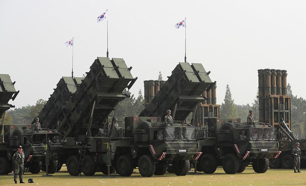 סוללות פטריוט של צבא דרום קוריאה (צילום: AP)