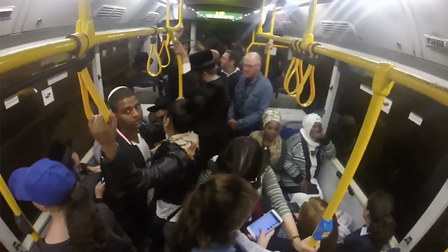 צפוף, איטי ומאחר - האוטובוס בישראל (צילום: אלי מנדלבאום) (צילום: אלי מנדלבאום)