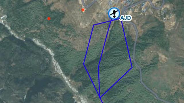 """אזור החילוץ של התייר הישראלי (צילום: בית חב""""ד בנפאל) (צילום: בית חב"""