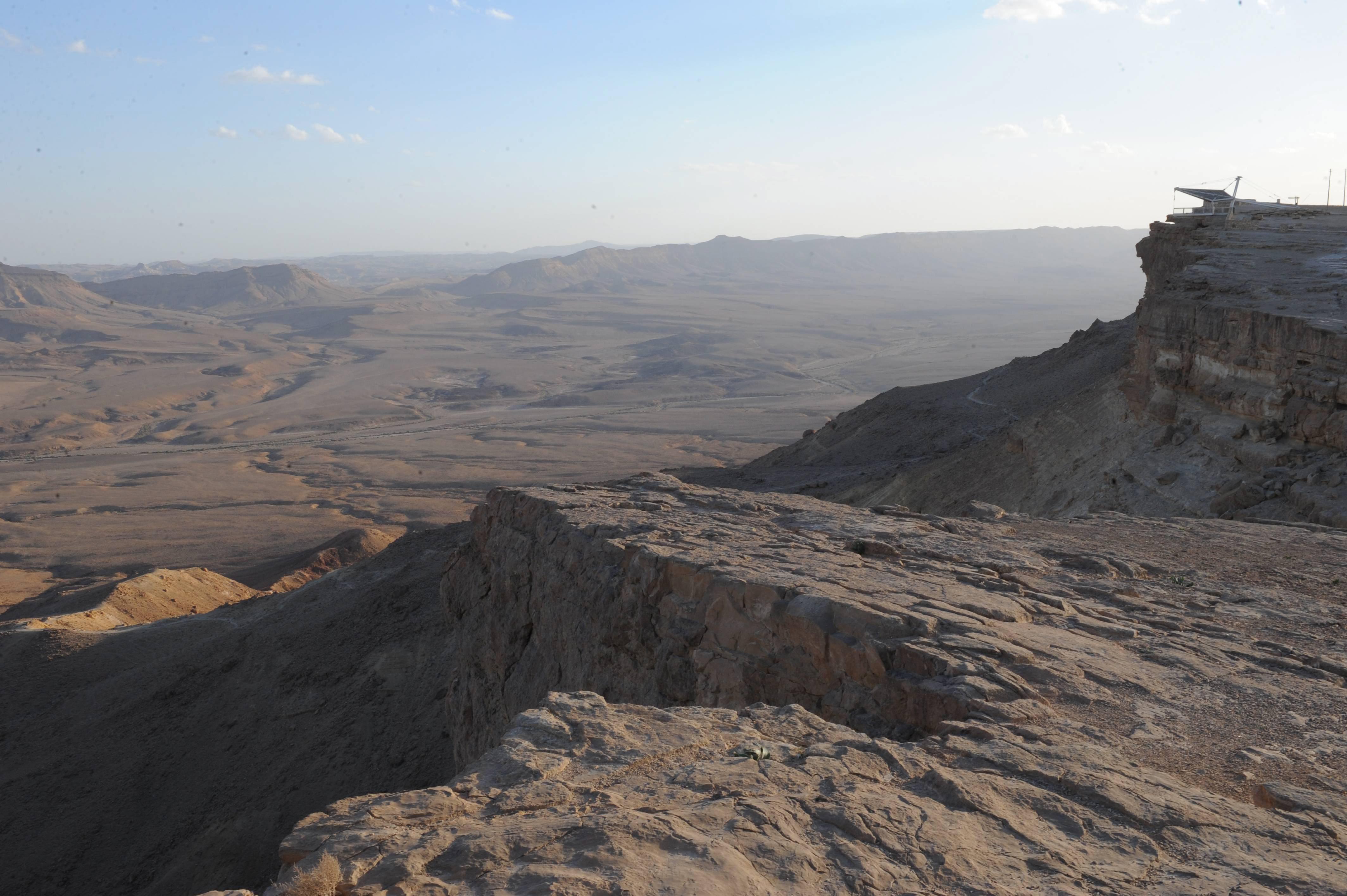 הנוף המדברי של מצפה רמון